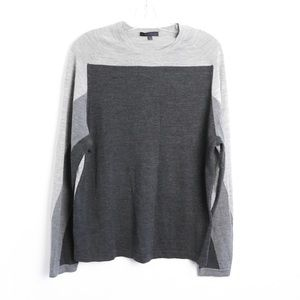 Patrick Assaraf luxury mens merino wool colorblock